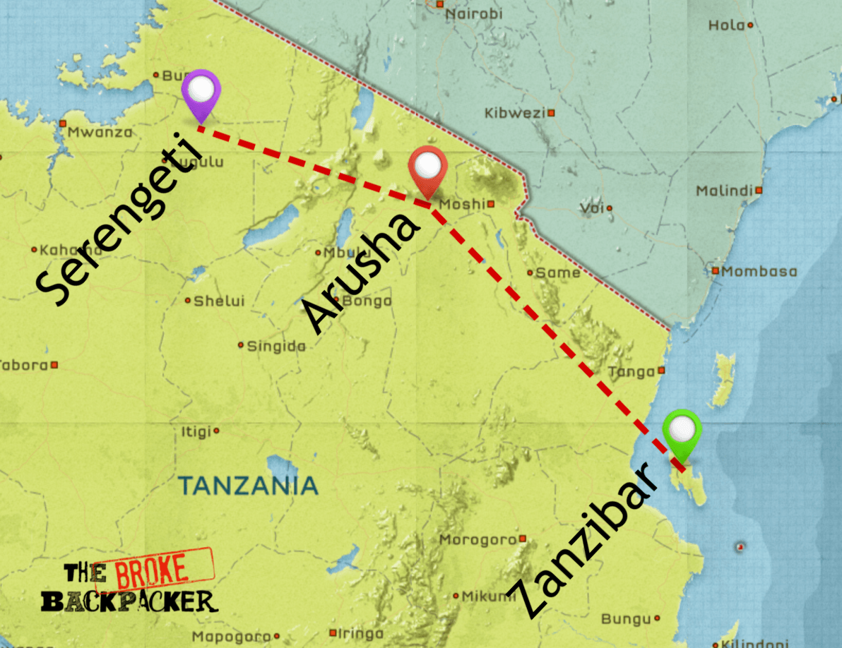 backpacking tanzania itinerary 10 days