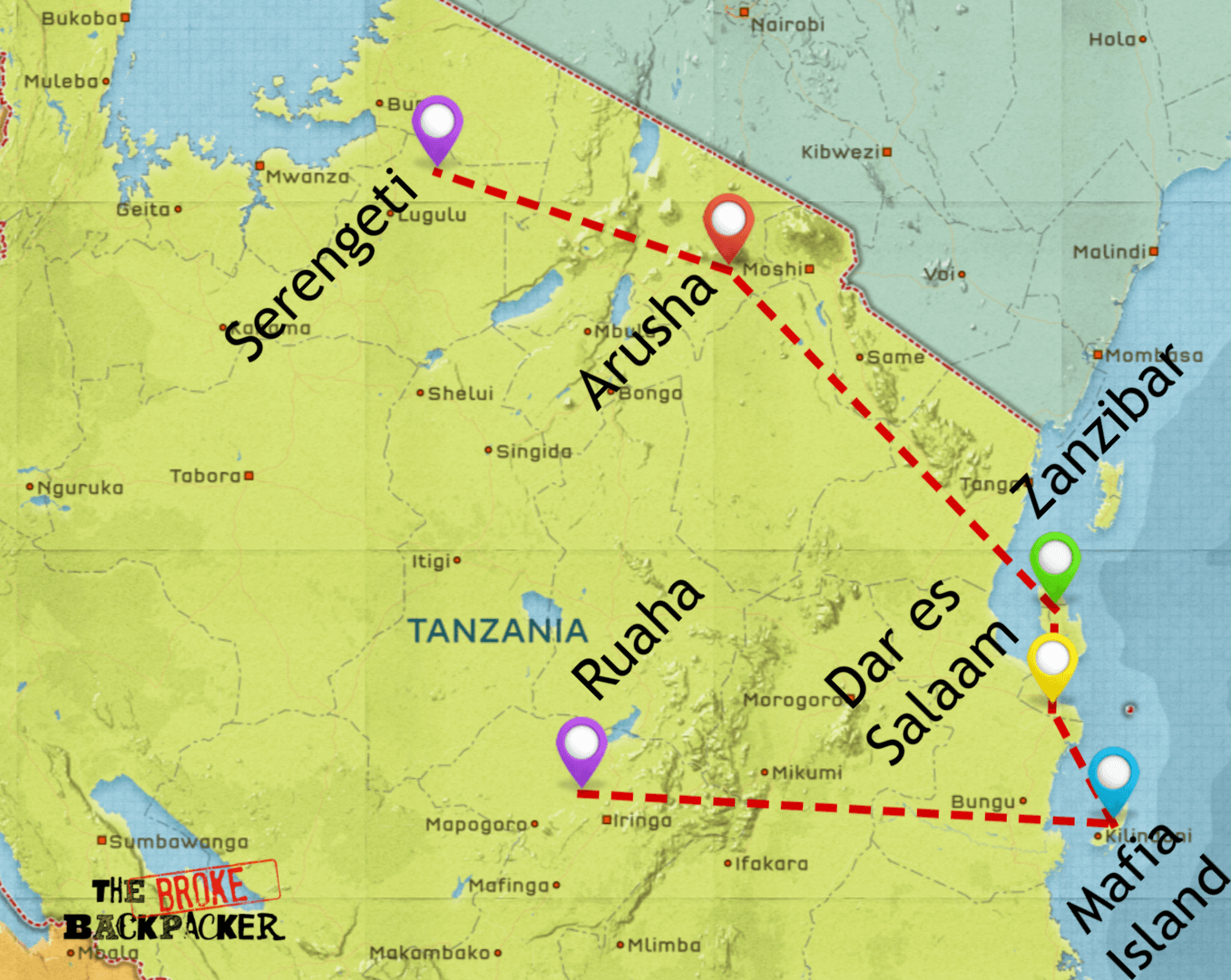 backpacking tanzania itinerary 3 weeks