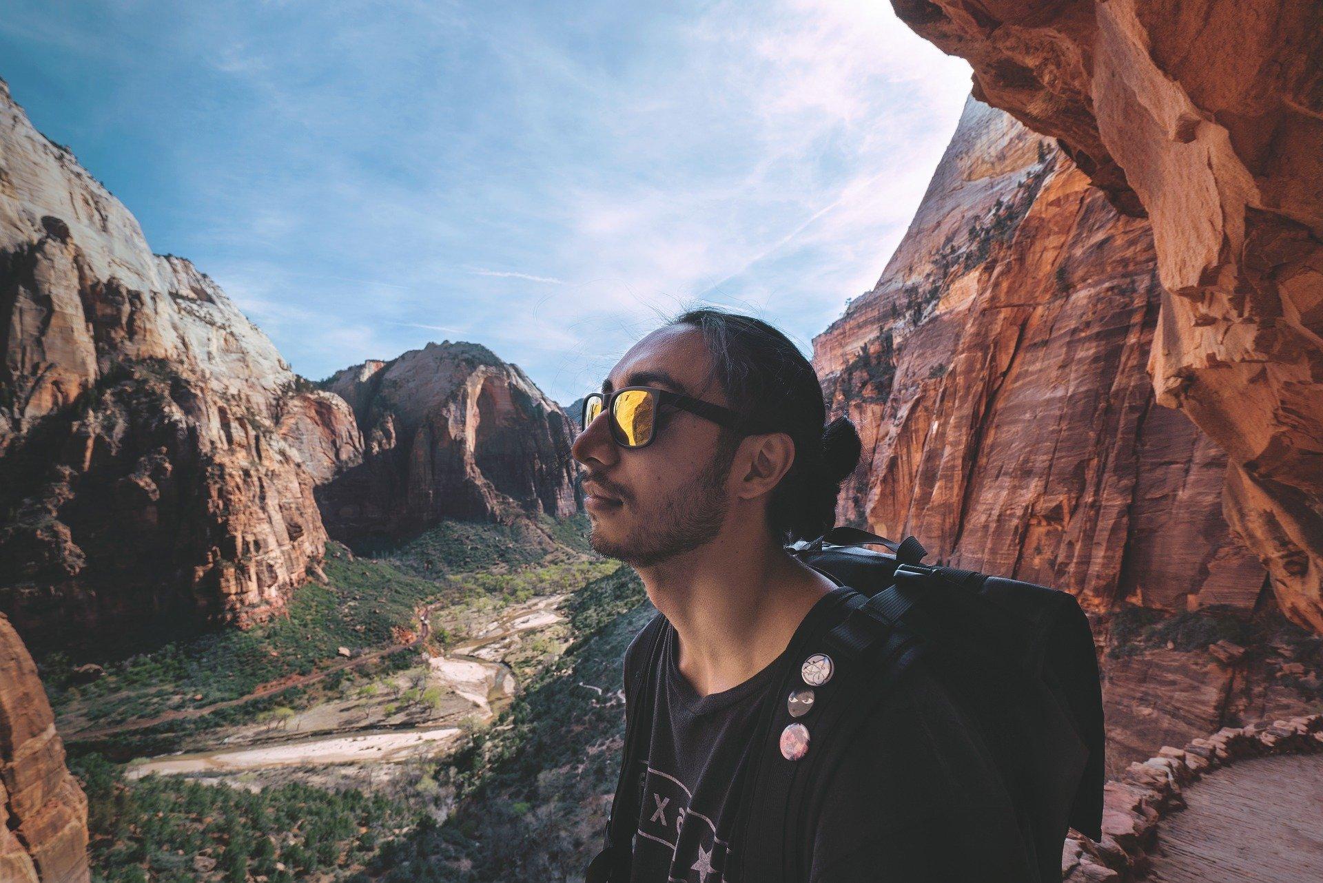 hiking sunglasses in sunny Zion