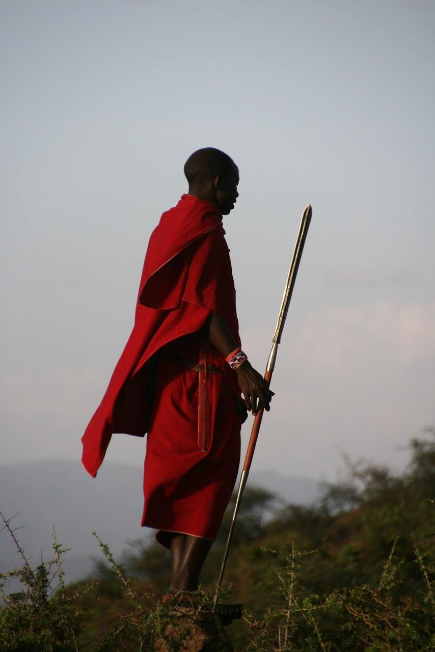 maasai warrior in tanzania