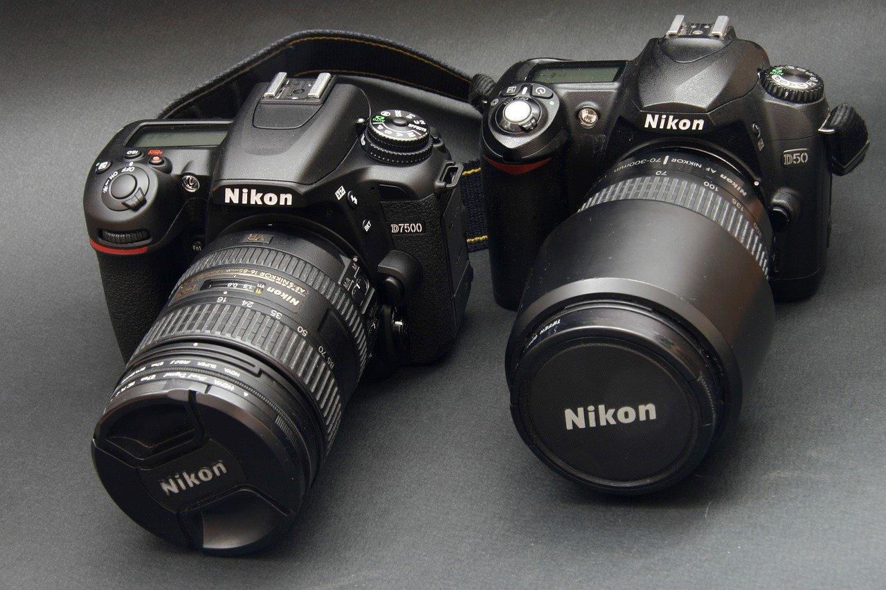 pair of nikon cameras
