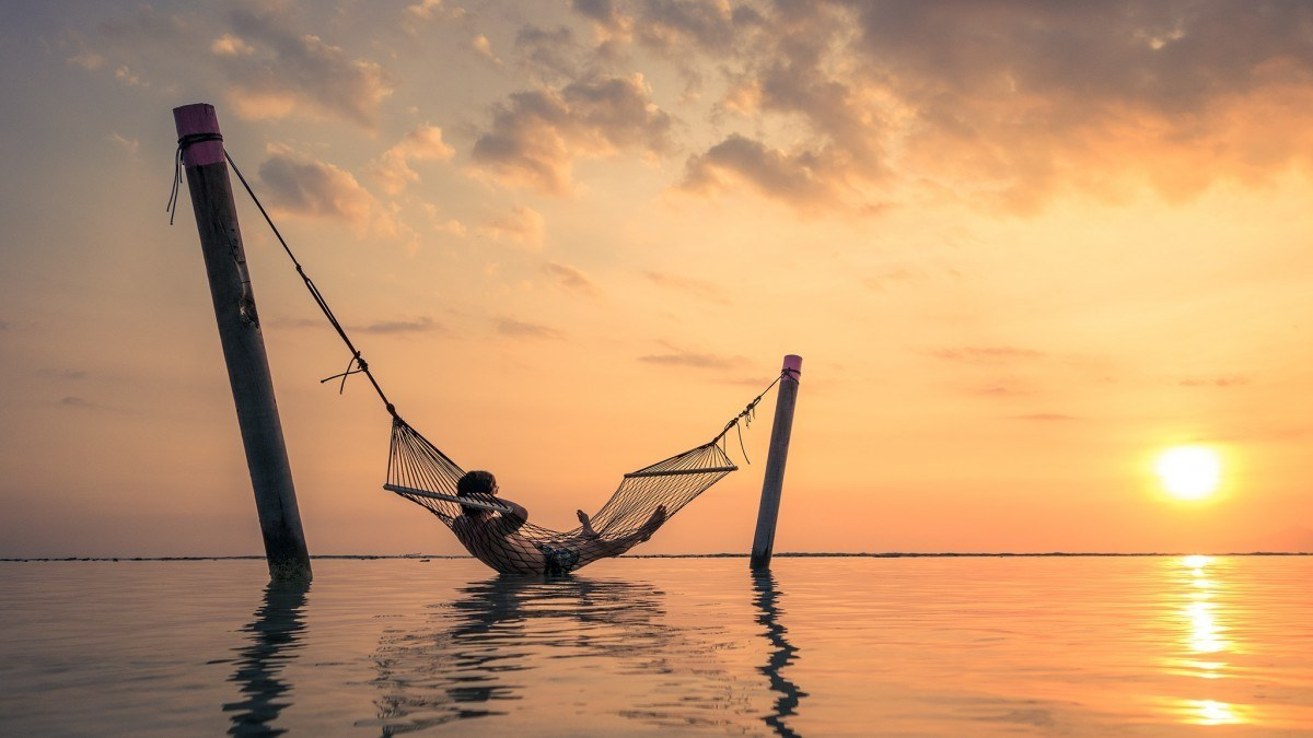 hammock on a beautiful beach in Sri Lanka