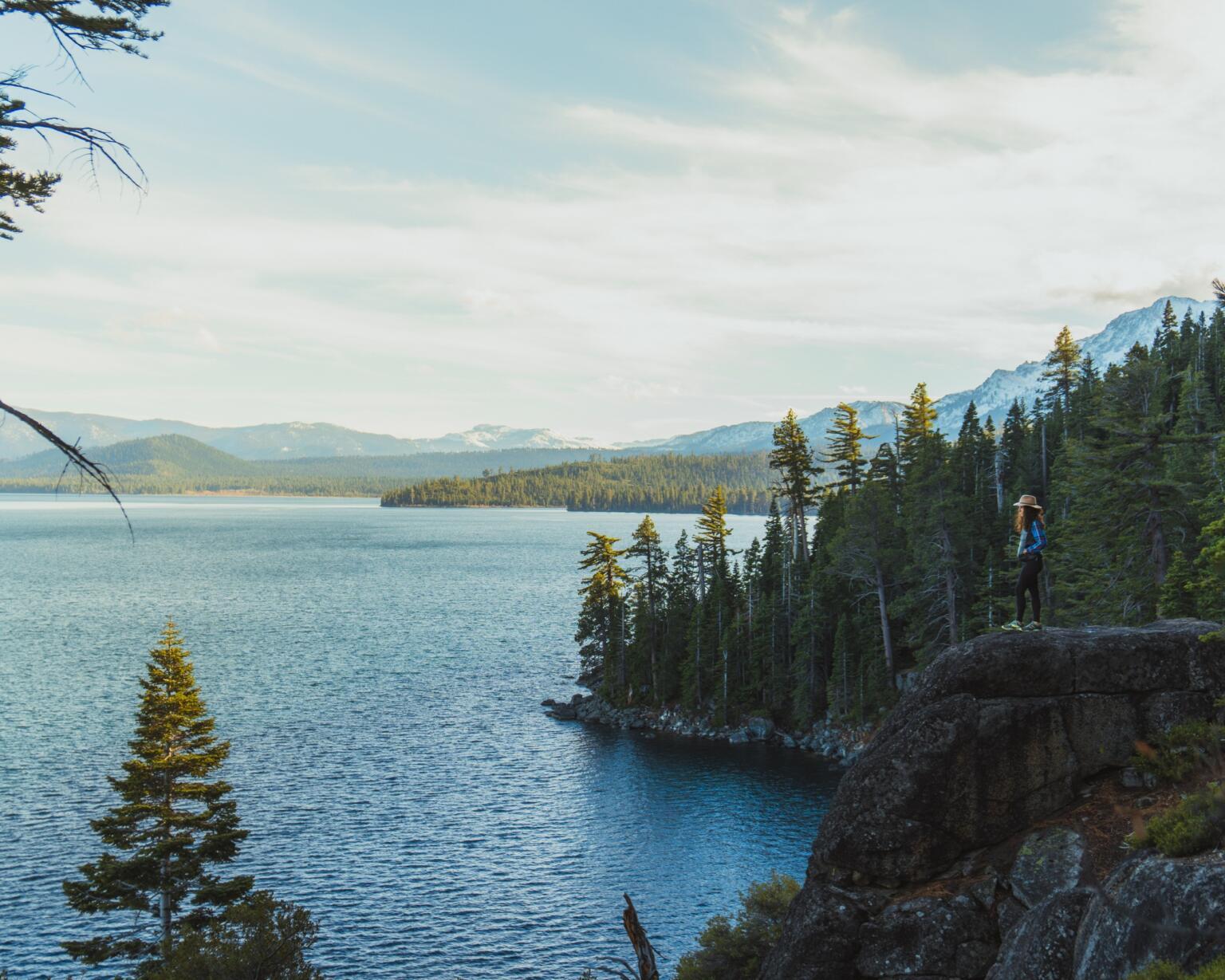 hiking around Lake Tahoe California