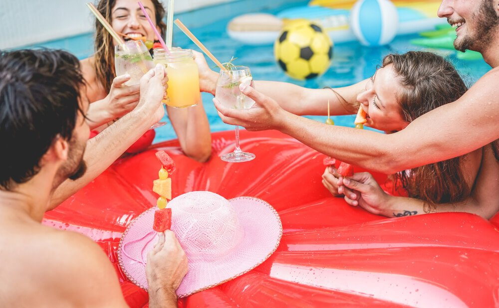 Get silly at Mrs Sippys pool party