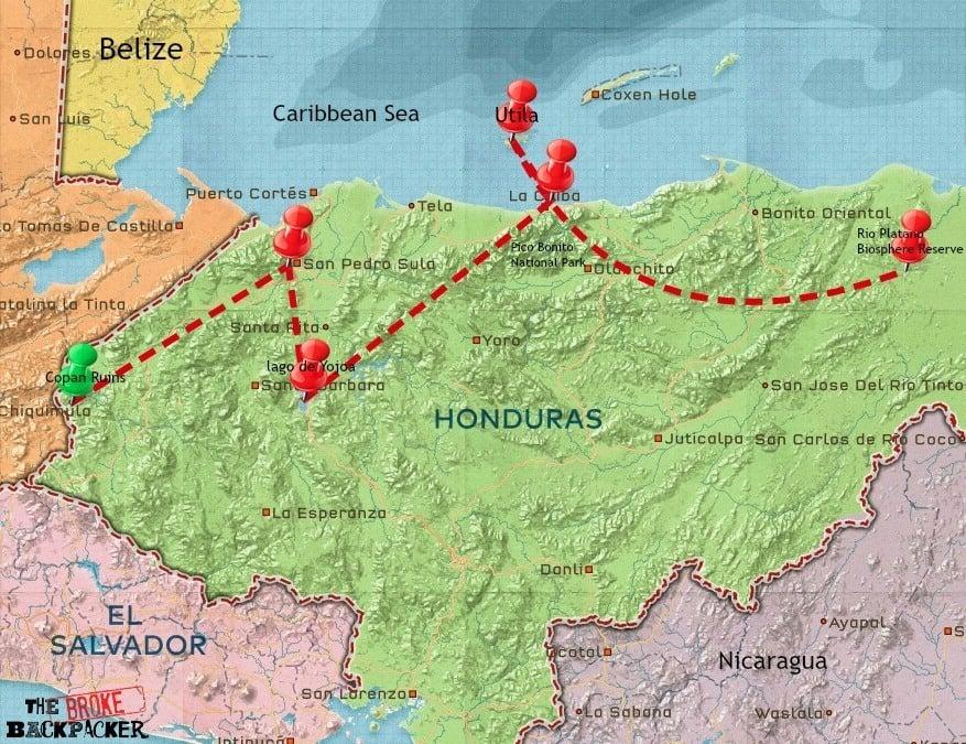 honduras itinerary