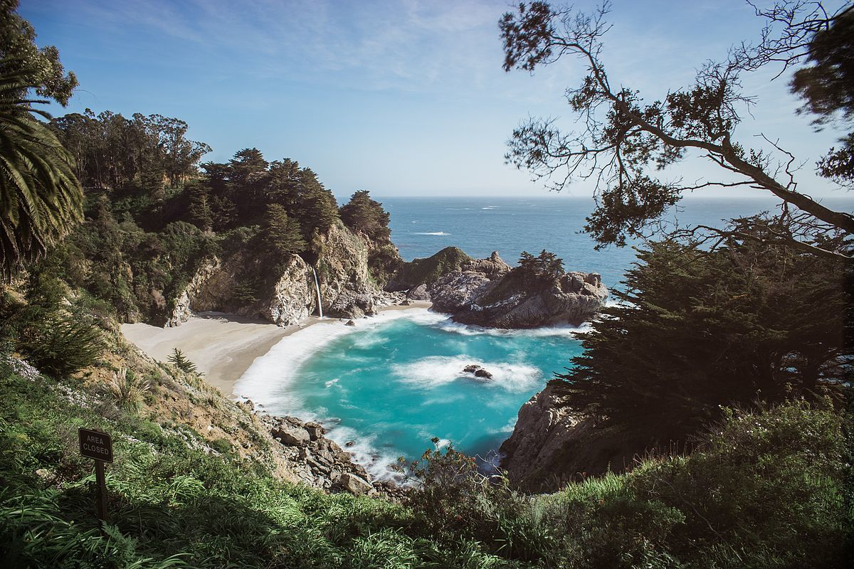 mcway falls viewpoint - big sur california coast road trip