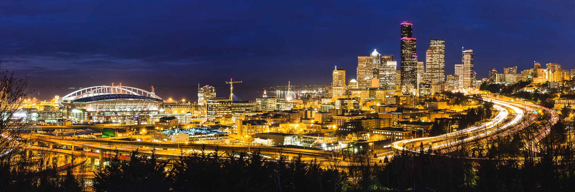 seattle long exposure dawn