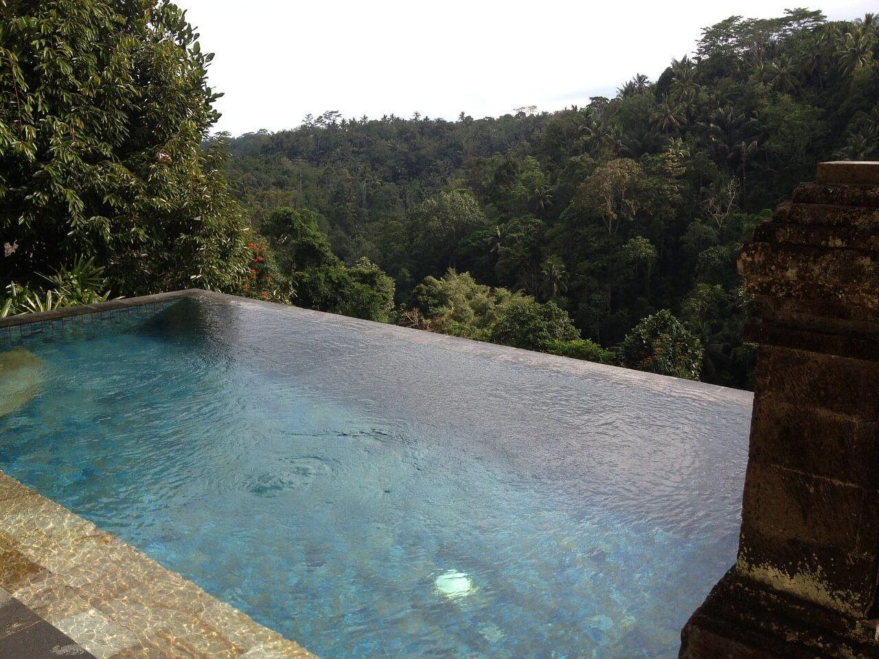 Swim in an infinity pool