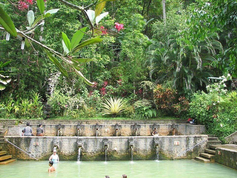 Take a dip in healing pools