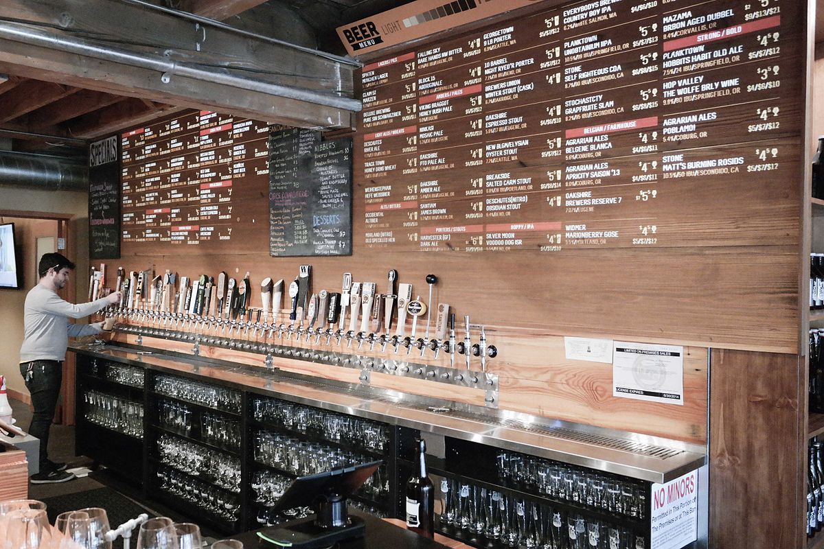 taps in a growler refill store oregon beers