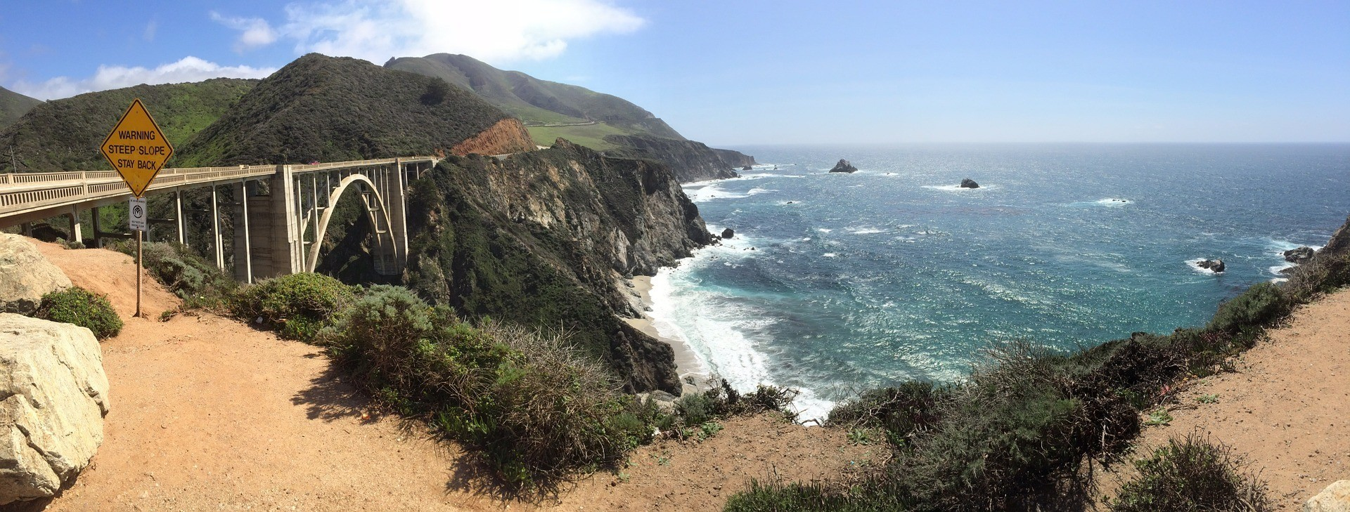 A beautiful vista of Big Sur's coast ripe for camping