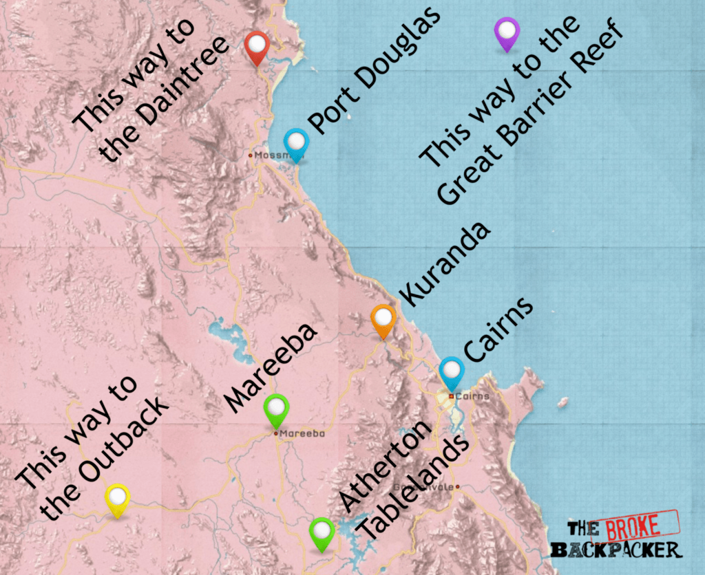 backpacking cairns map