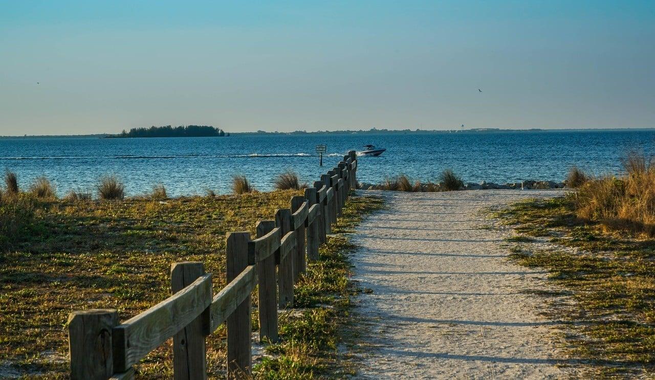 beach boardwalk in florida