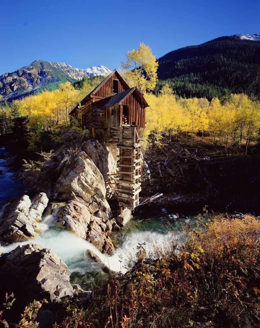 crystal mill colorado in autumn