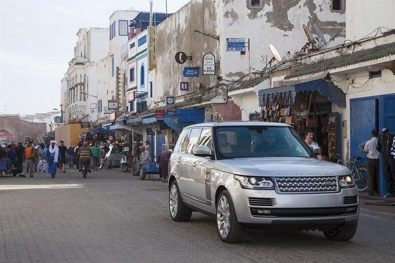 A bustling dangerous street in Morocco