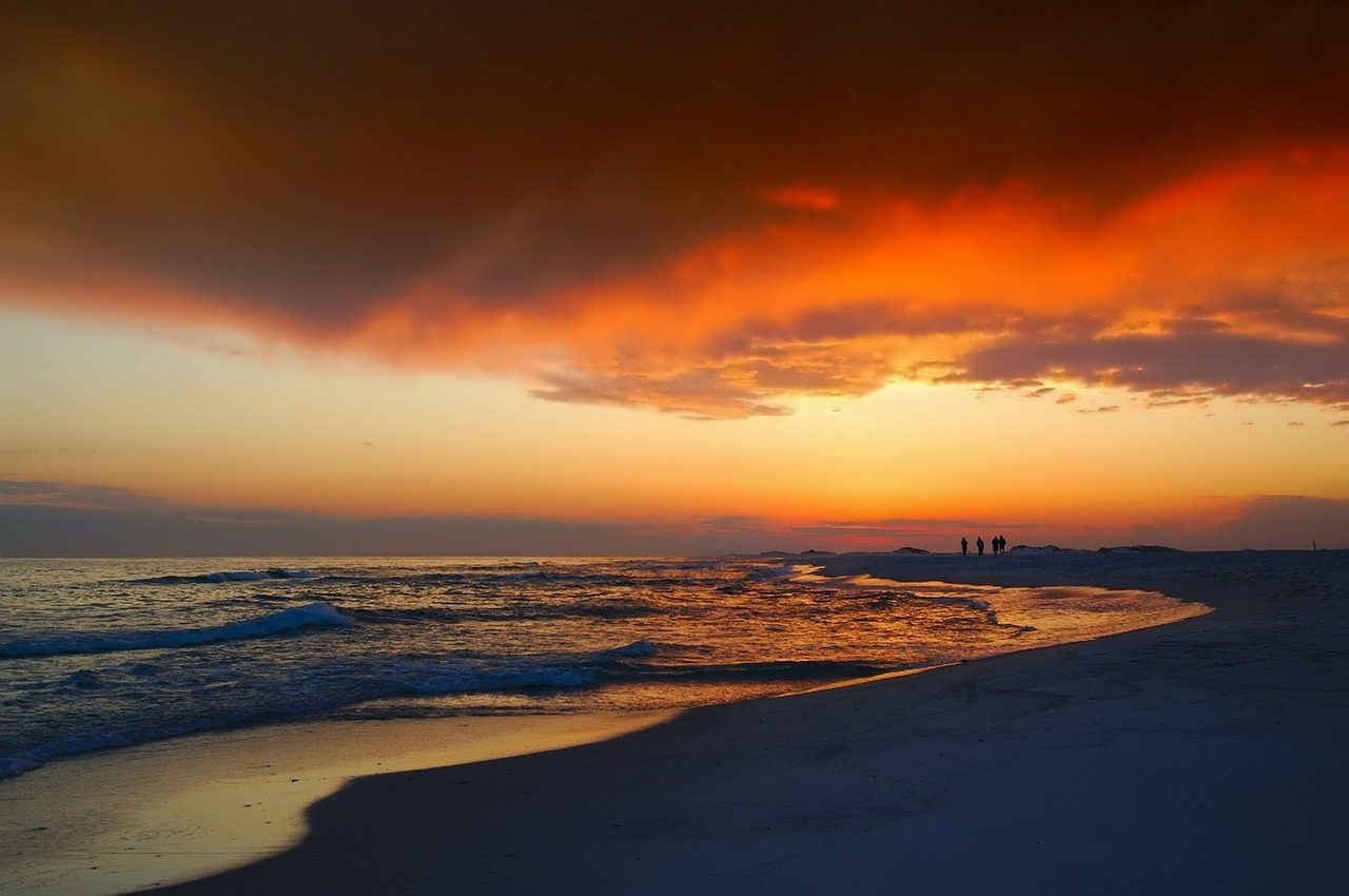 florida coast beach sunset