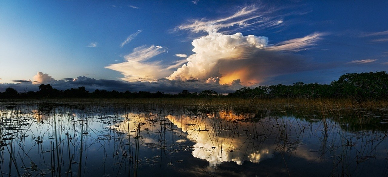 florida storm clouds above everglades florida