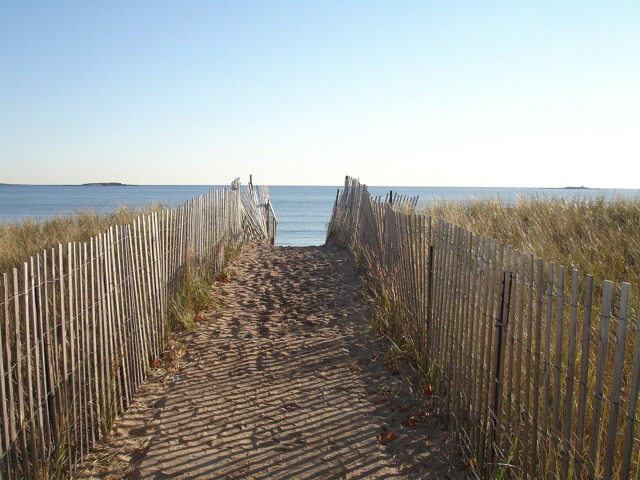 cap cod beach and fences romantic new england coast road trip