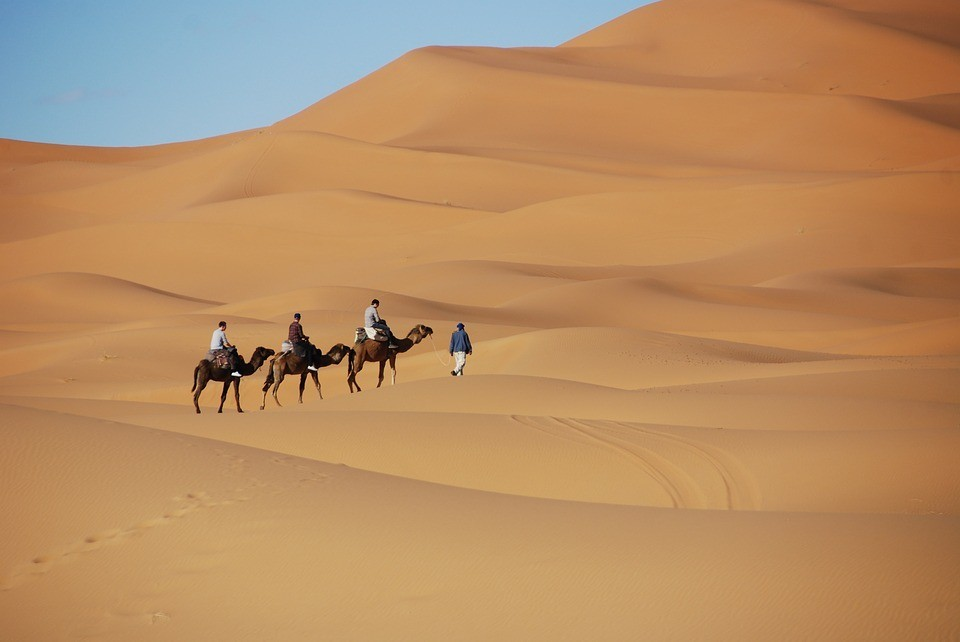 Traveling safely in the desert of Morocco