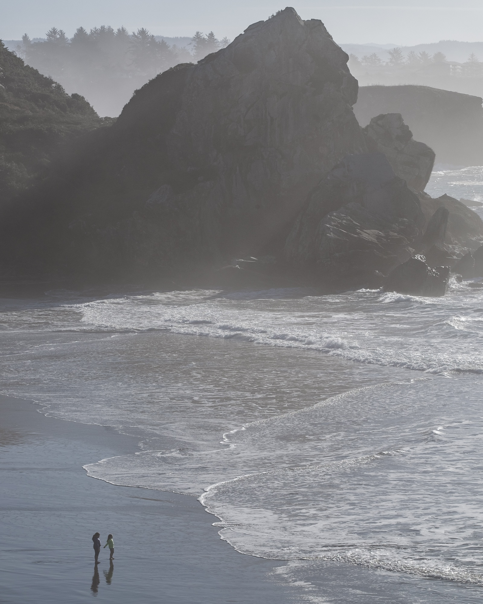 people playing on the oregon coast roaming ralph photography
