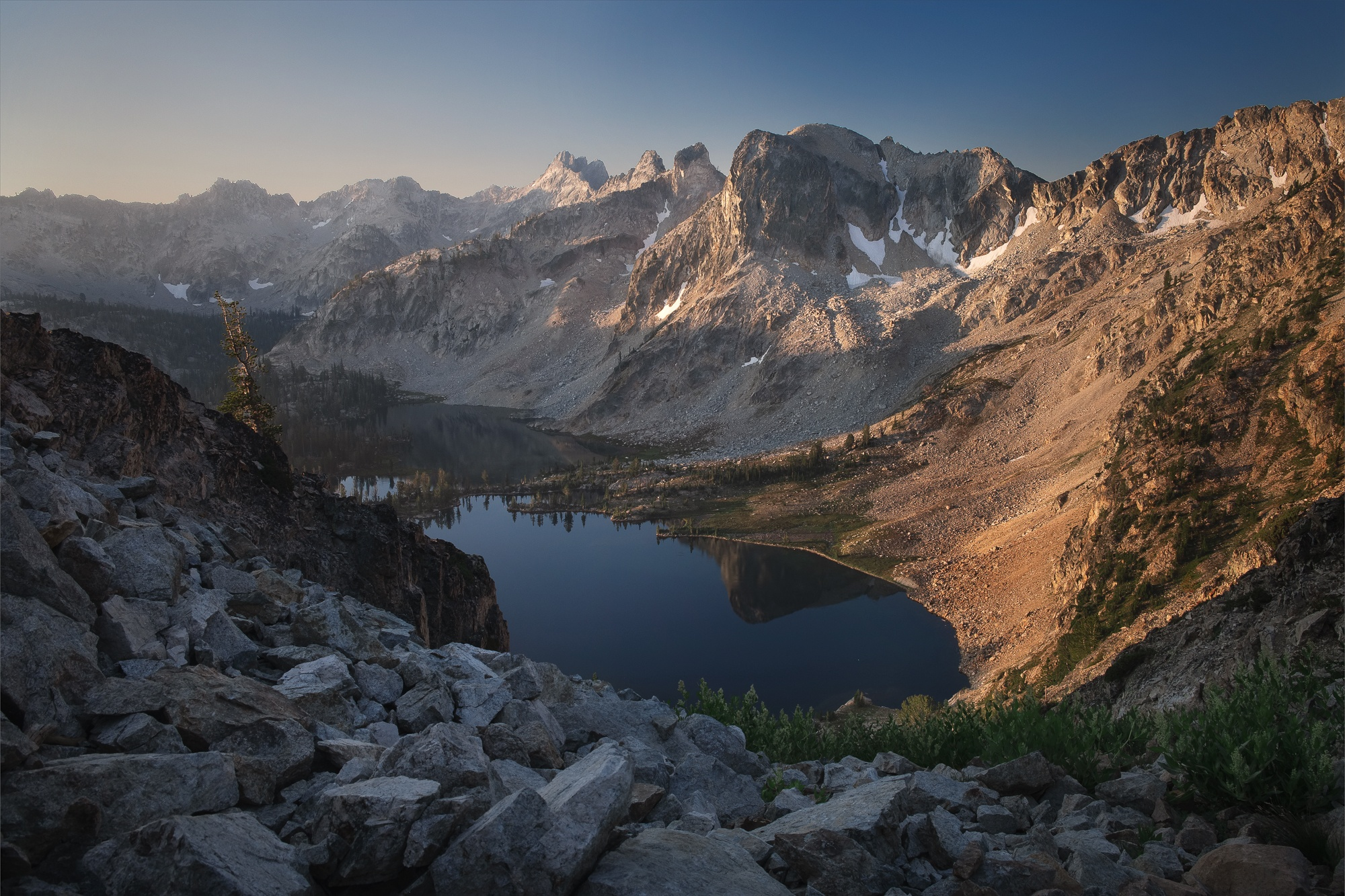 sawtooth mountains sunrise twin lakes roaming ralph photography