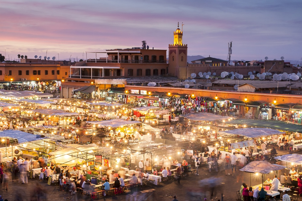 A market in Morocco - potential unsafe place due to pickpockets