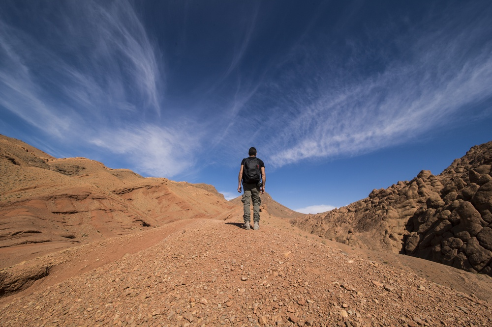A man traveling alone in Morocco