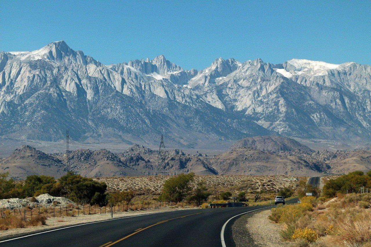 road eastern sierra nevada california road trip