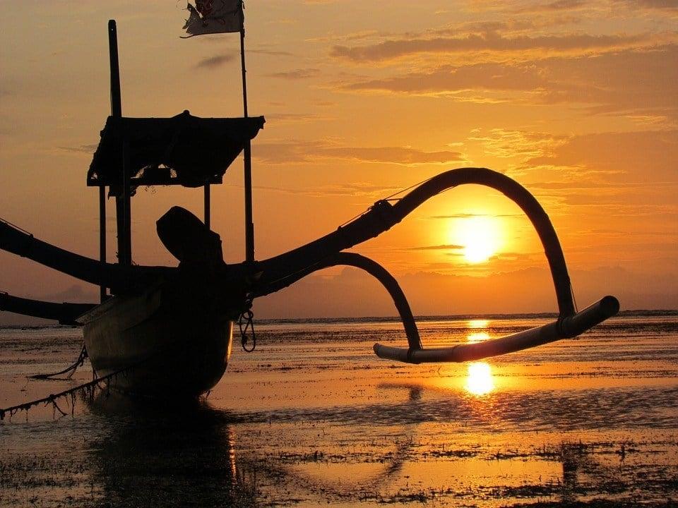 sunrise from Sanur Beach