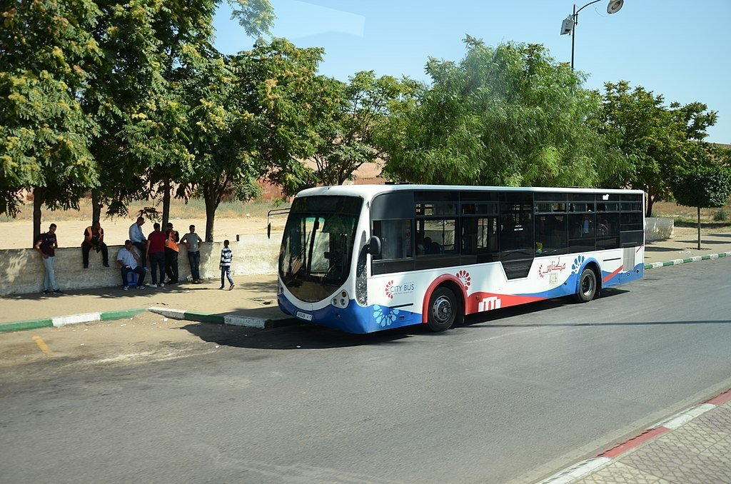 A bus in Morocco - part of the safe public transportation system