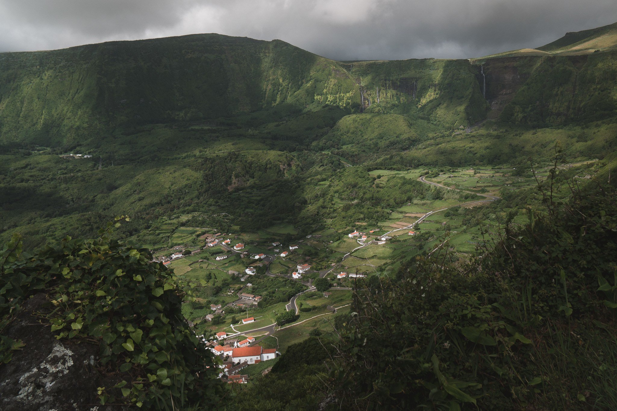 small town visiting the Azores
