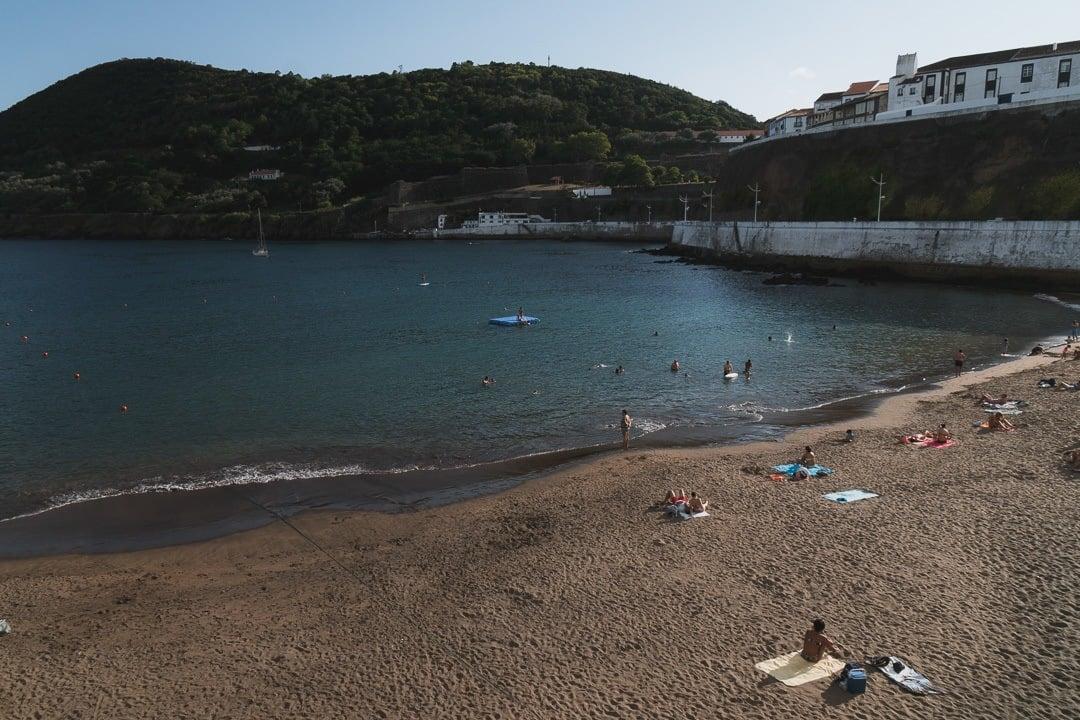 manmade beach in Angra do Heroismo