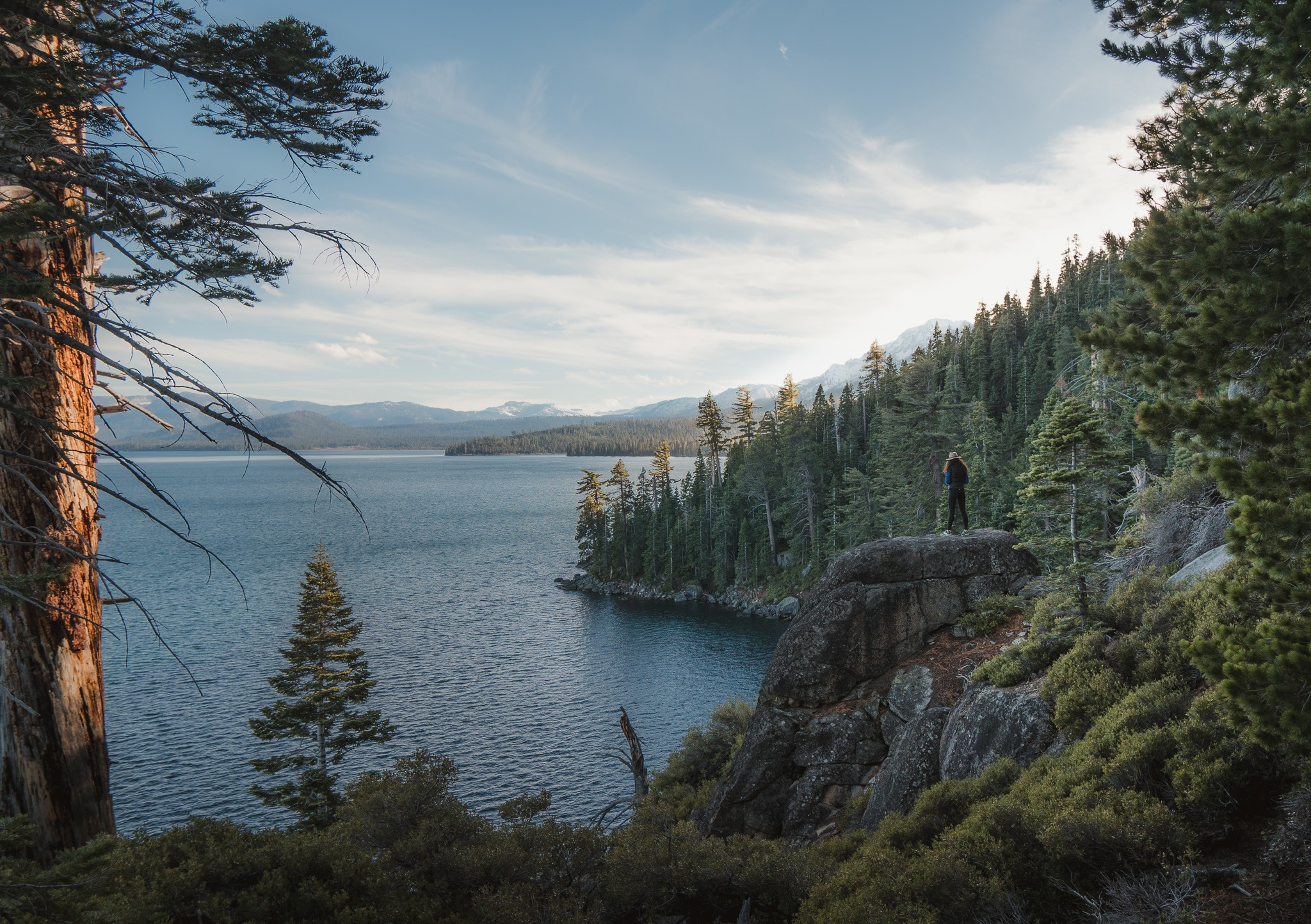 backpacking California in Lake Tahoe