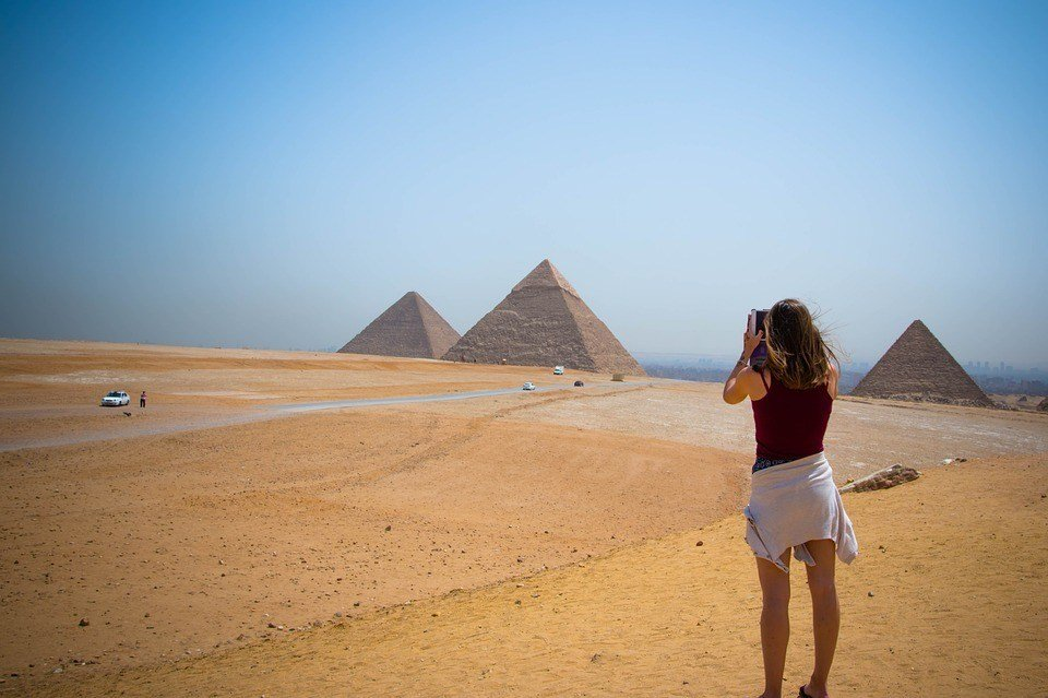 A woman travelling safely in Egypt