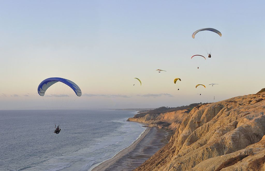san diego travel guide torrey pines paragliders