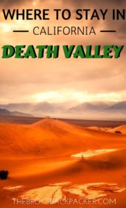 Where to Stay in Death Valley PIN