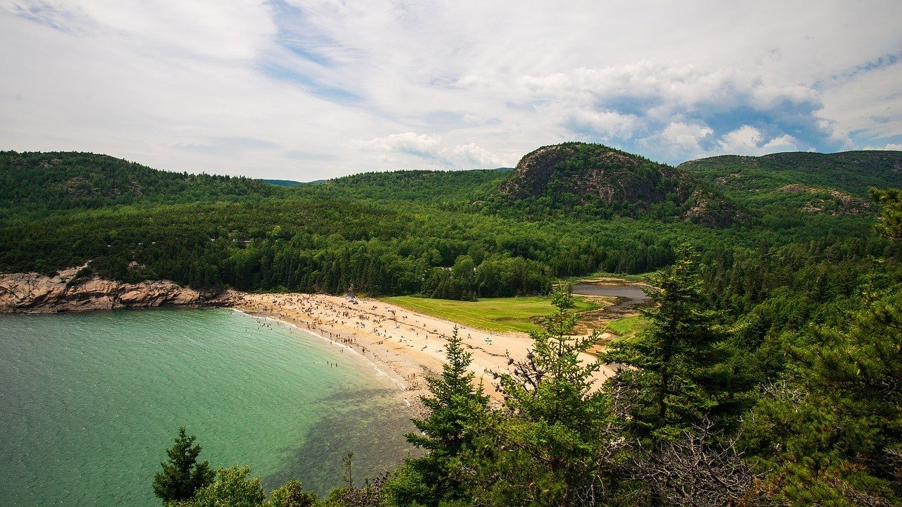 acadia national park maine beach