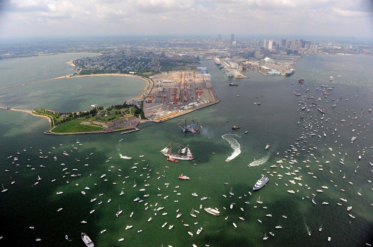 drone photo boston travel guide