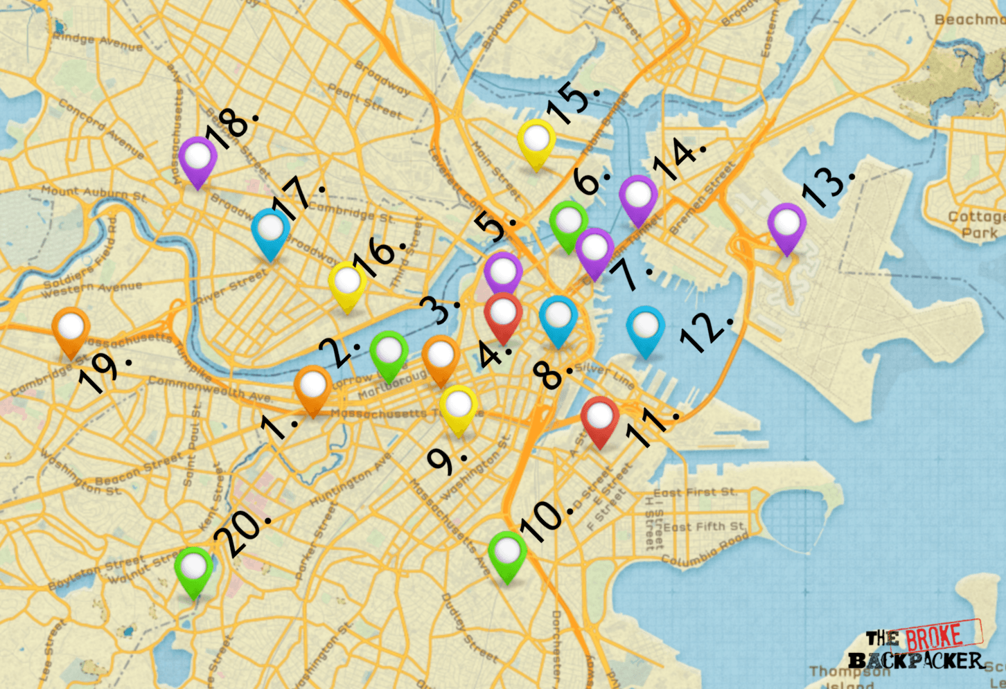 map of boston travel guide