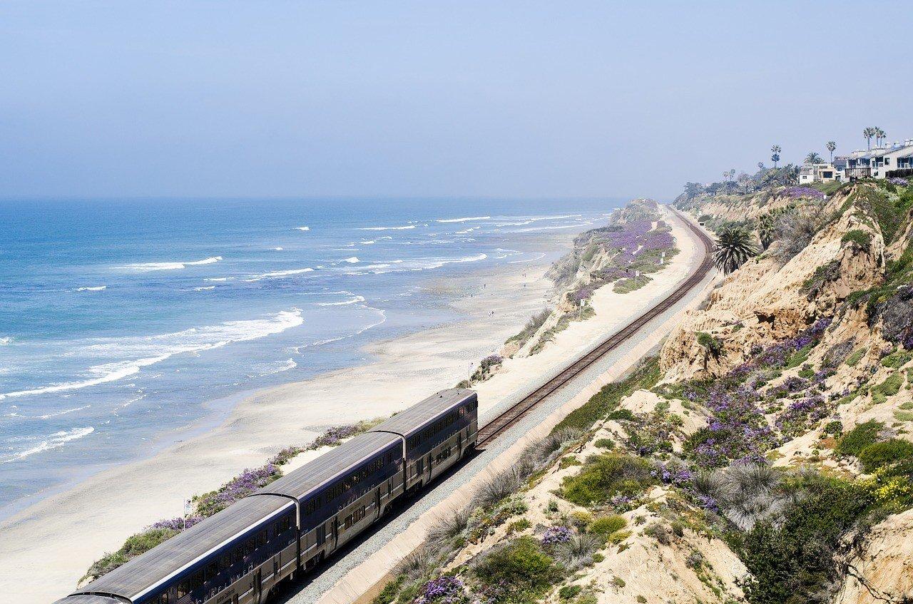 train on california coast united states travel guide