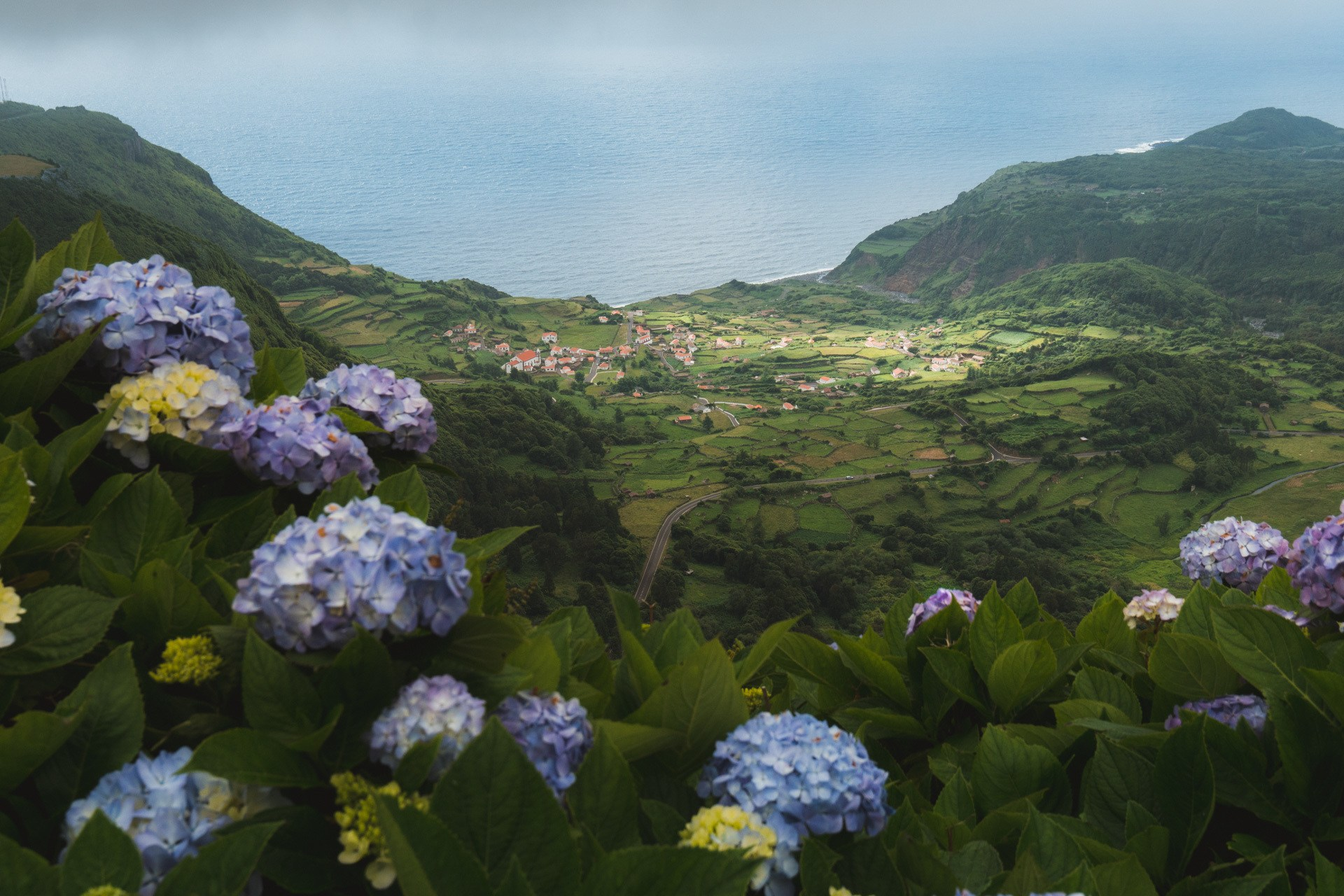 views while traveling on the Azores