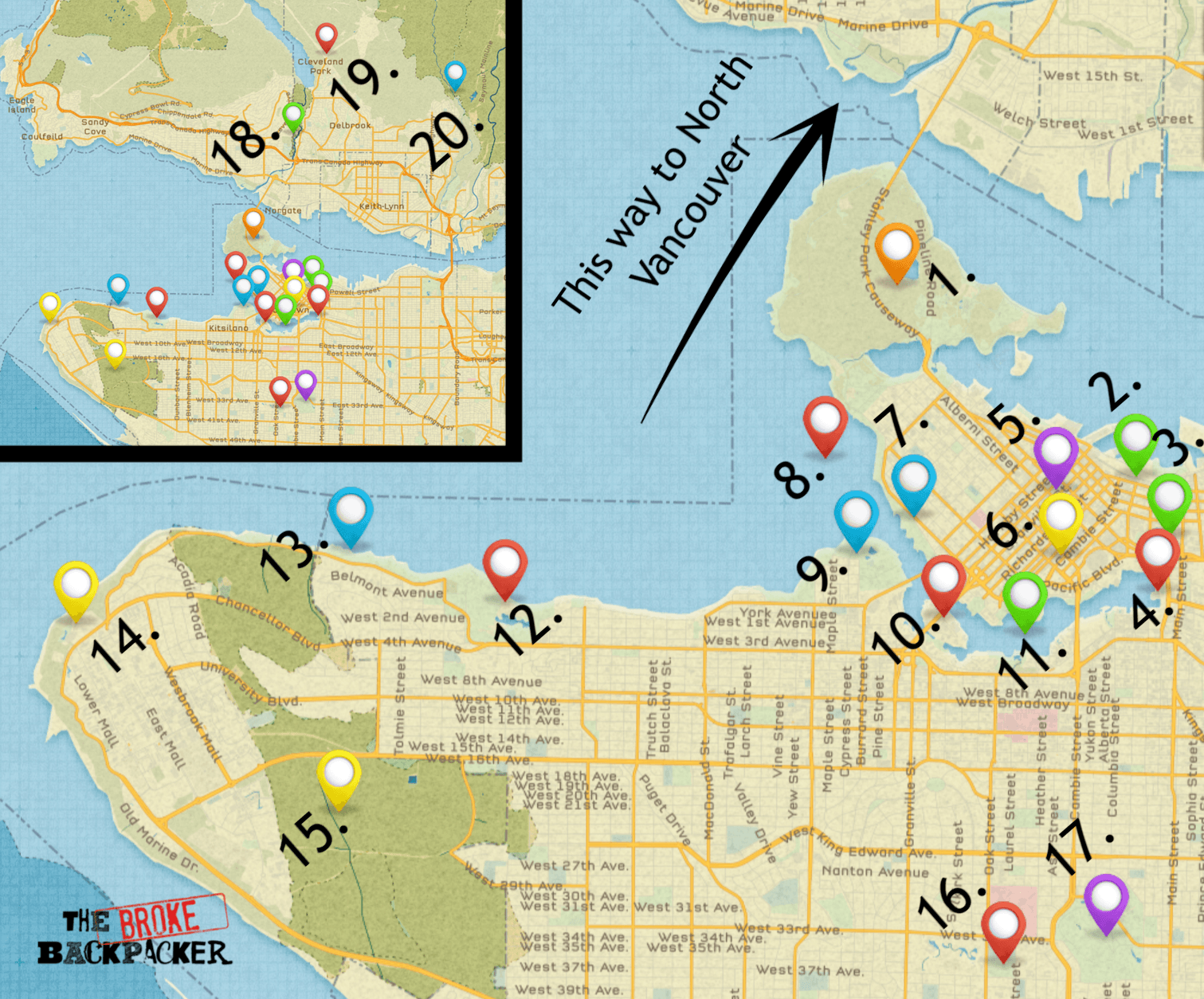map of vancouver itinerary