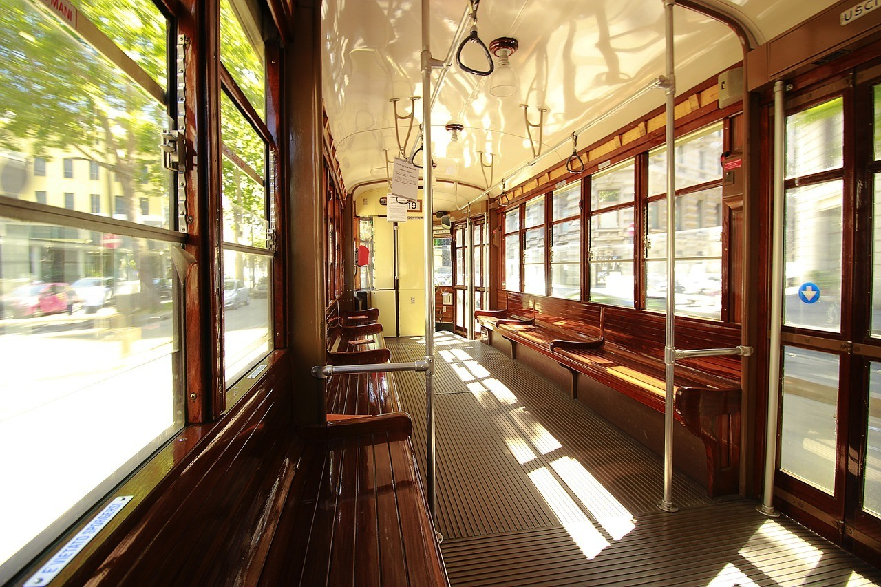 inside of tram milan travel guide