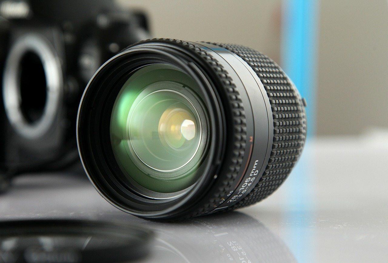 close up of nikon lens elements