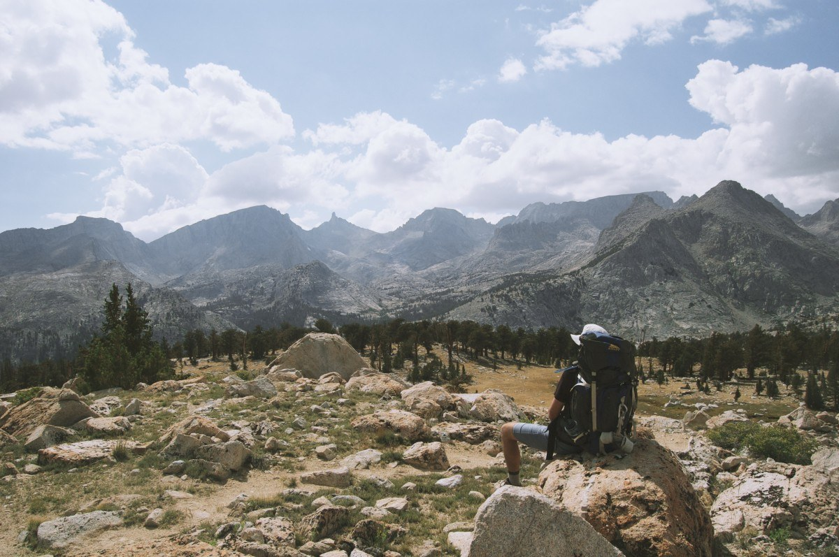 colorado hiker in the mountains