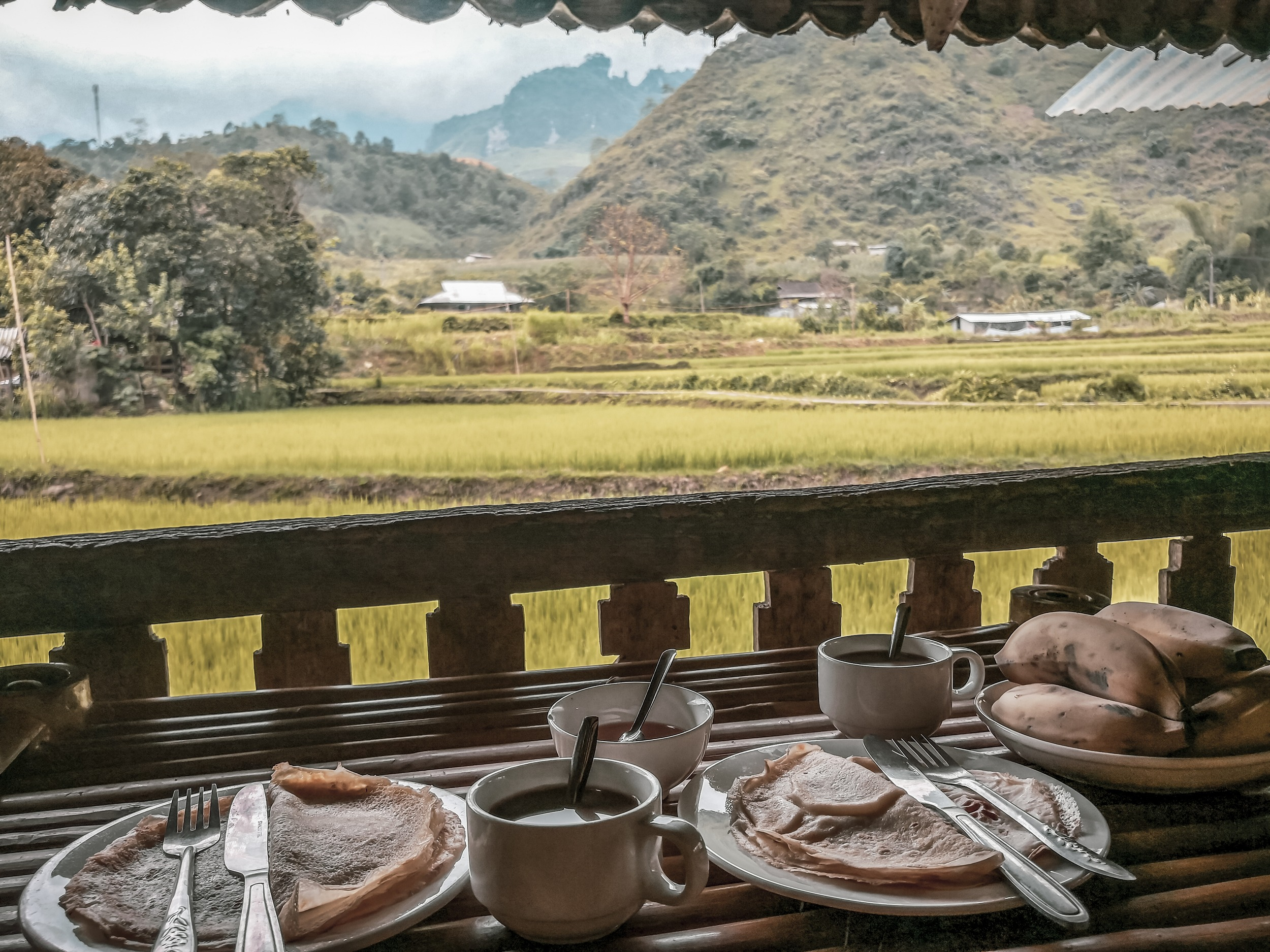 Final breakfast on the Ha-Giang Loop in Vietnam