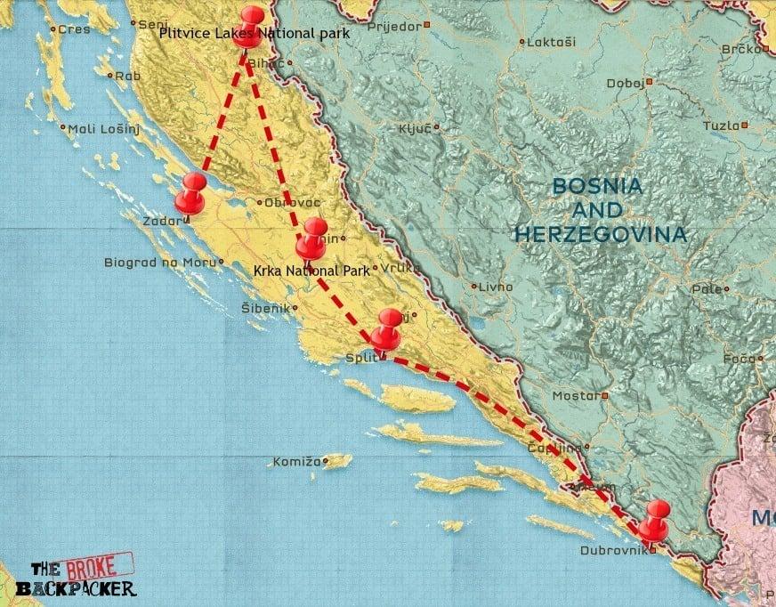 croatia 7 day itinerary