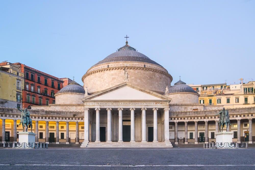 Piazza del Plebiscito ttd Naples Italy