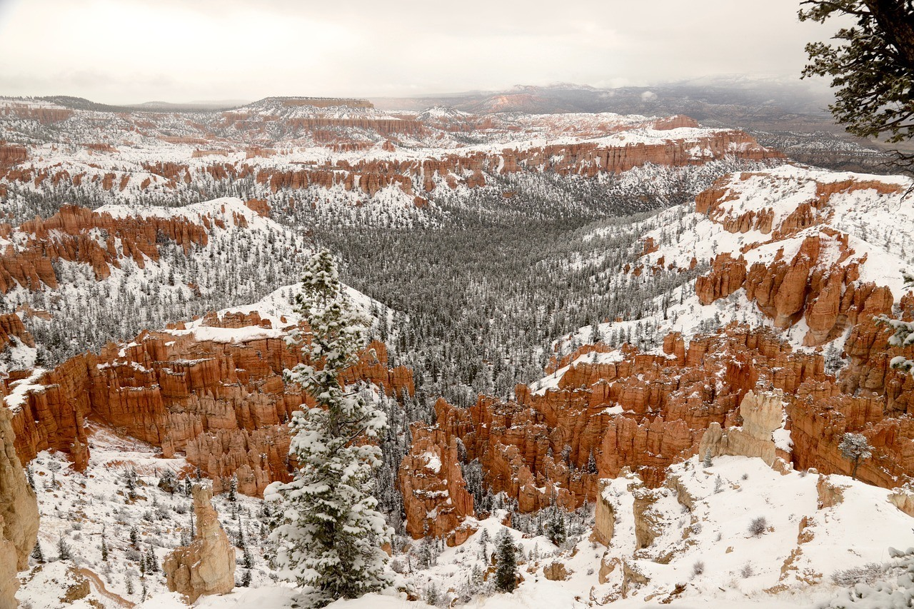 visiting the Utah national parks in winter
