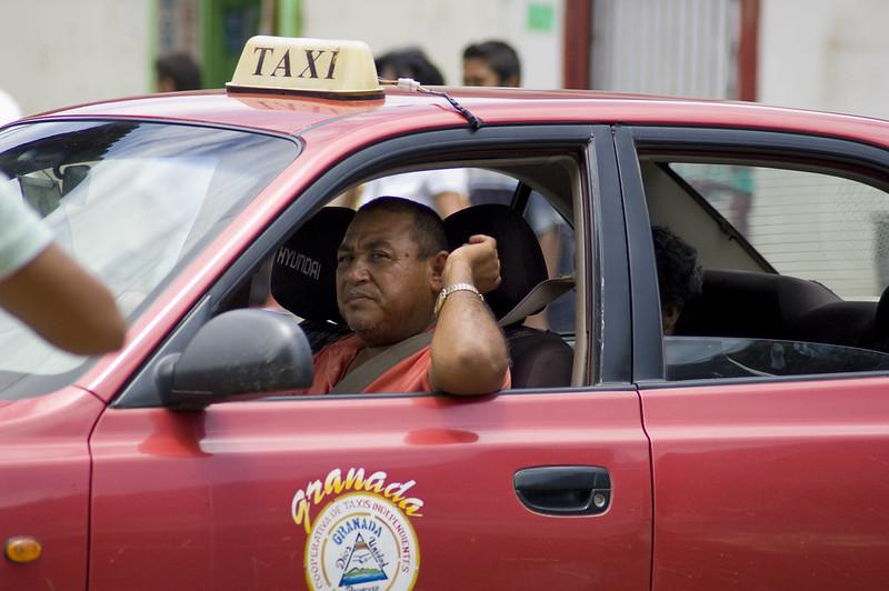 An official taxi - better for safety in Nicaragua